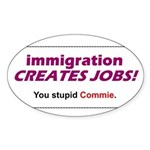 Immigration Oval Sticker