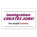 Immigration Rectangle Sticker
