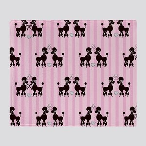 Pink Poodles And Diamonds Throw Blanket