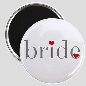 Bride Grey Text Magnet