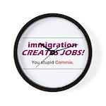 Immigration Wall Clock