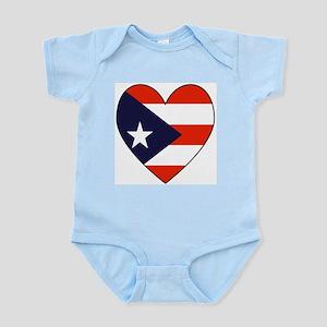 Puerto Rican Flag Heart Infant Creeper