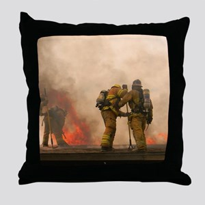 Sounding the roof. Throw Pillow