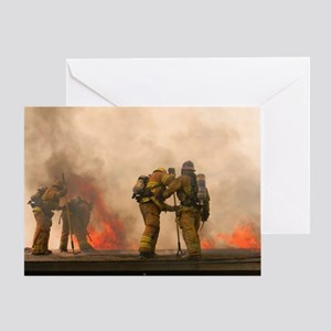 Sounding the roof. Greeting Card