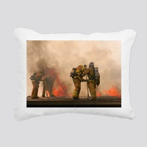 Sounding the roof. Rectangular Canvas Pillow
