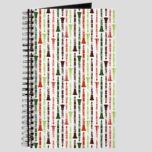 Orange Clarinet Flip Flops Journal