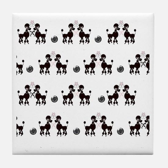 French Poodles Tile Coaster