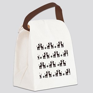 French Poodles Canvas Lunch Bag