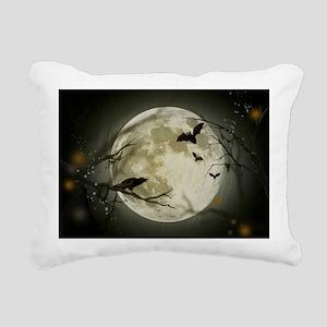 Halloween Scene Rectangular Canvas Pillow