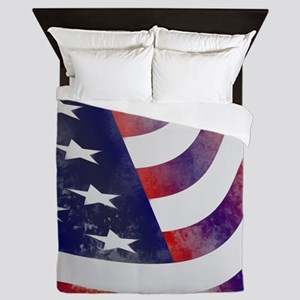 American Flag Queen Duvet