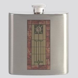 PASADENA ROSE STAINED GLASS Flask