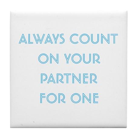 Euchre Partner Tile Coaster