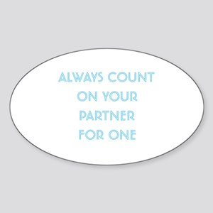 Euchre Partner Oval Sticker