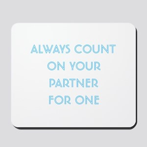 Euchre Partner Mousepad