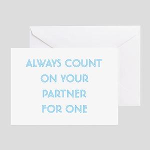 Euchre Partner Greeting Card