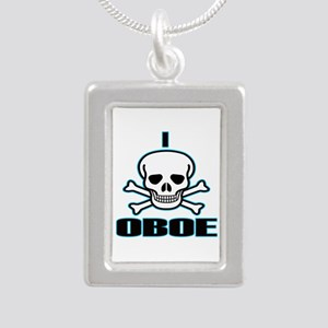 I Hate Oboe Silver Portrait Necklace