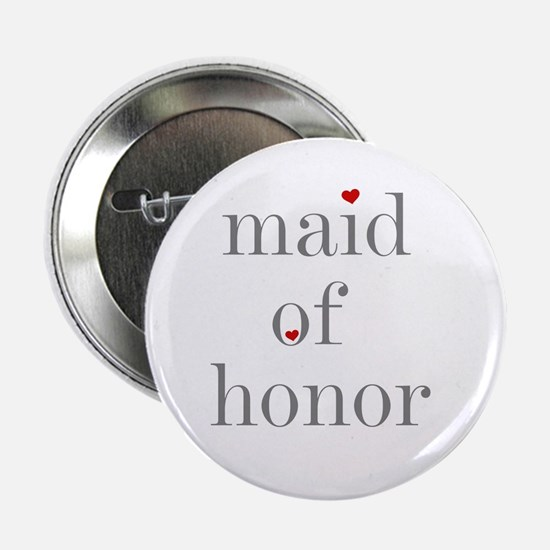 Maid of Honor Grey Text Button