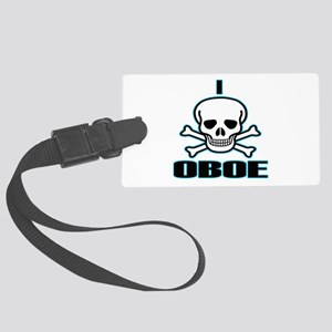I Hate Oboe Large Luggage Tag