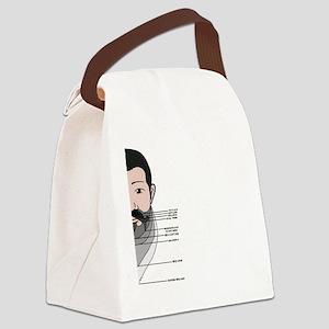 Beard Length Chart Canvas Lunch Bag
