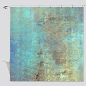 Cracked Shower Curtain