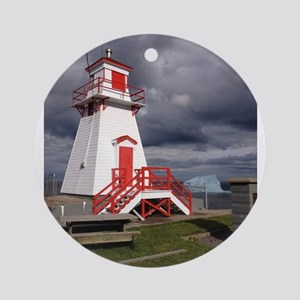 Fort Amherst Lighthouse Ornament (Round)