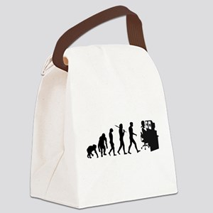 Film Editor Evolution Canvas Lunch Bag