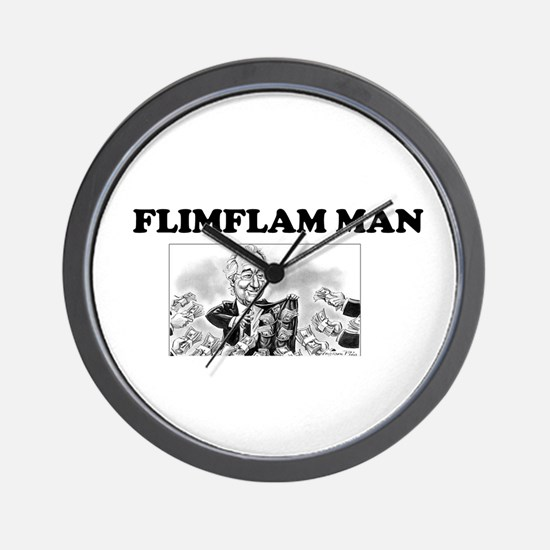 Flimflam Man - Bernie Madoff! Wall Clock