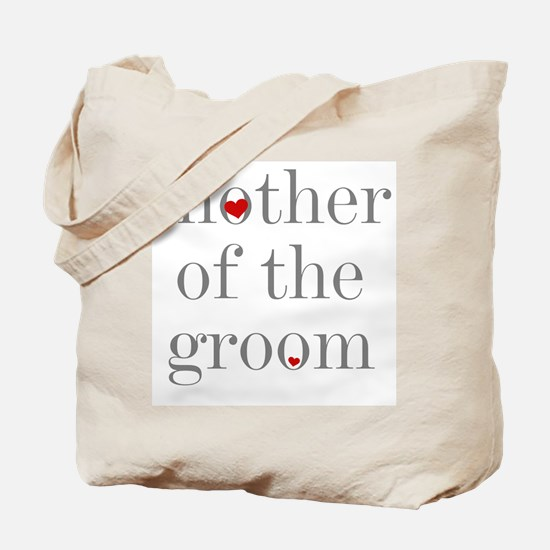 Mother of Groom Grey Text Tote Bag