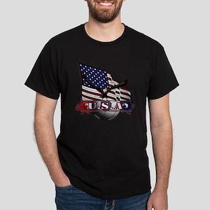 USA Flag & Soccer with Eagle Dark T-Shirt