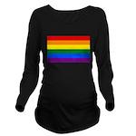 Gay Flag Long Sleeve Maternity T-Shirt