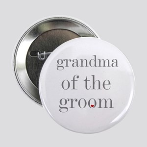 Grandma of Groom Grey Text Button
