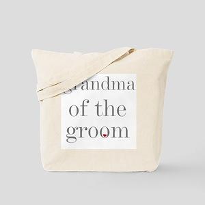 Grandma of Groom Grey Text Tote Bag