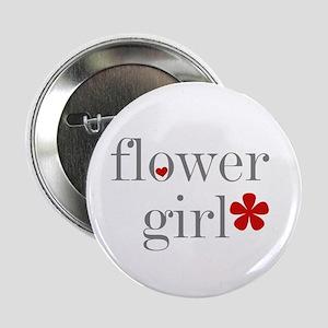 Flower Girl Grey Text Button