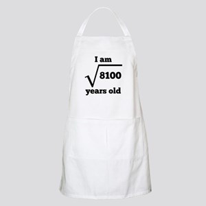 90th Birthday Square Root Apron