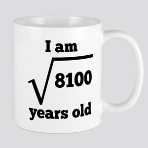 90th Birthday Square Root Mugs