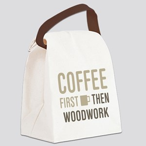 Coffee Then Woodwork Canvas Lunch Bag