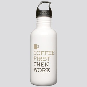 Coffee Then Work Stainless Water Bottle 1.0L