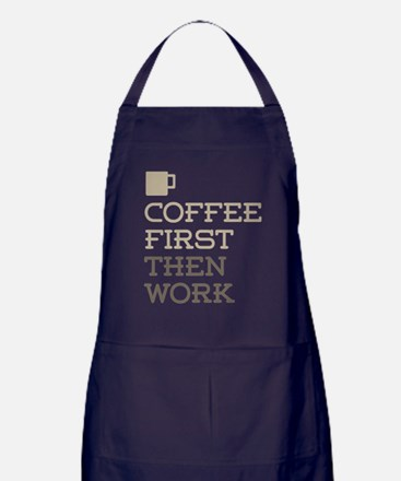 Coffee Then Work Apron (dark)