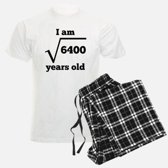 80th Birthday Square Root Pajamas
