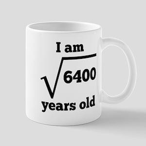 80th Birthday Square Root Mugs