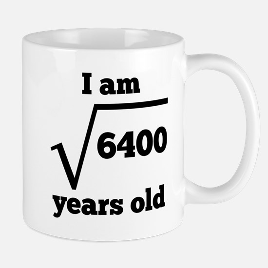 80th Birthday Square Root Mugs