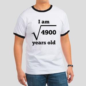 70th Birthday Square Root T-Shirt