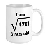 69th birthday Large Mugs (15 oz)