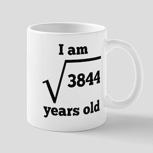 62nd Birthday Square Root Mugs