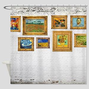 Vangogh Brick Wall Shower Curtain