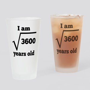 60th Birthday Square Root Drinking Glass