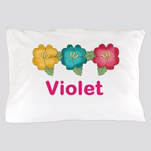 violet's tropical flower personalized Pillow Case