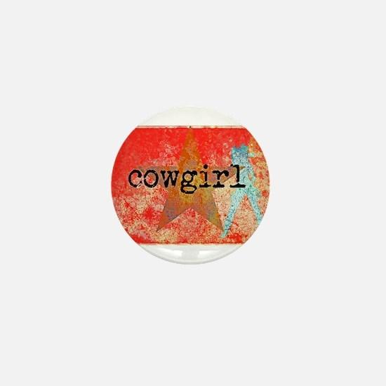 Vintage star cowgirl Mini Button