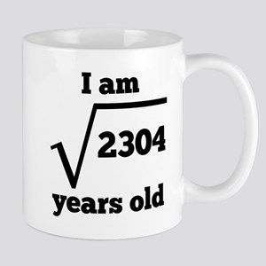 48th Birthday Square Root Mugs