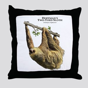 Hoffman's Two-Toed Sloth Throw Pillow